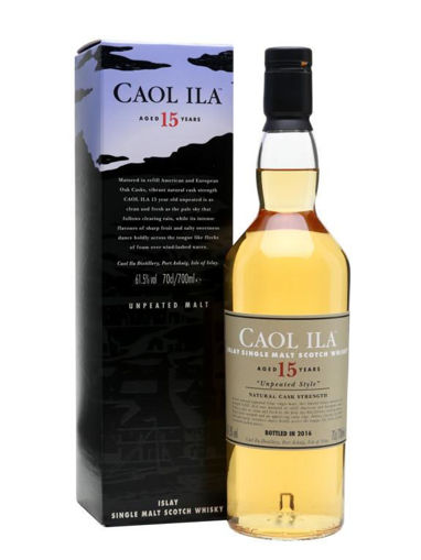 Slika Caol Ila 15 YO UNPEATED STYLE Natural Cask Strength 2018 59,1% Vol. 0,7l + GB