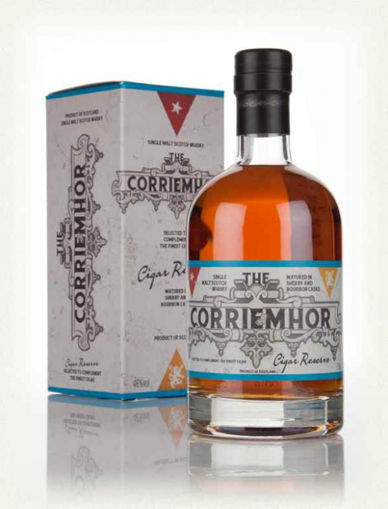 Slika Corriemhor Cigar Reserve Single Malt Scotch Whisky + GB 46% 0,7 l