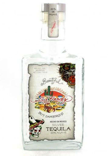 Slika Ed Hardy Tequila Silver 100% Agave 40% Vol. 0,75 l