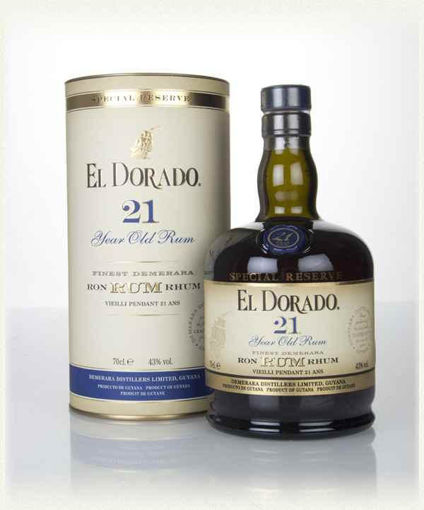 Slika El Dorado Special Reserve 21 Years Old + GB 43% Vol. 0,7 l