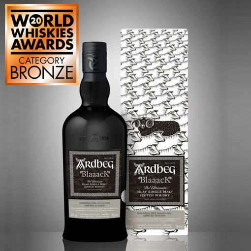 Slika Ardbeg BlaaacK Islay Single Malt Scotch Whisky Comwithtee 20th Anniversary Limithed Edition 46% Vol. 0,7l in Giftbox