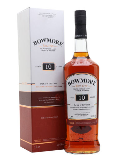 Slika Bowmore 10 Years Old DARK & INTENSE Islay Single Malt Whisky 40% Vol. 1l in Giftbox