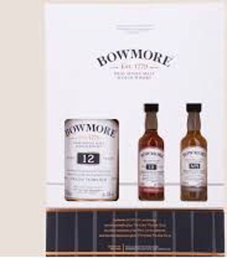 Slika Bowmore 12 Years Old THE LEGENDARY N°1 VAULTS SET in Giftbox 40,2% Vol. 0,7l + 2x0,05l