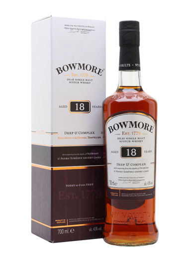 Slika Bowmore 18 Years Old DEEP & COMPLEX Islay Single Malt Scotch Whisky 43% Vol. 0,7l in Giftbox