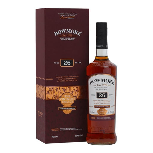 Slika Bowmore 26 Years Old THE VINTNER'S TRILOGY French Oak Barrique 48,7% Vol. 0,7l in Giftbox