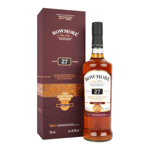 Slika Bowmore 27 Years Old THE VINTNER'S TRILOGY Port Cask 48,3% Vol. 0,7l in Giftbox