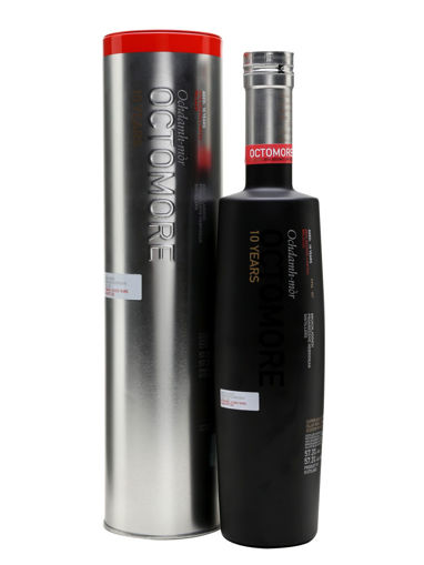 Slika Bruichladdich Octomore TEN YEARS Old Islay Single Malt Second Limithed Relase 2016 57,3% Vol. 0,7l in Tinbox