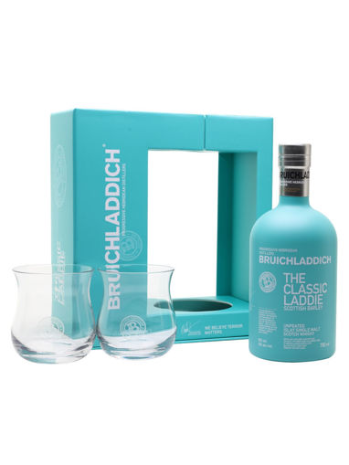 Slika Bruichladdich THE CLASSIC LADDIE Scottish Barley Unpeated Islay Single Malt 50% Vol. 0,7l in Giftbox with 2 glasses