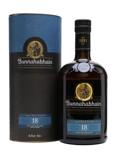 Slika Bunnahabhain 18 Years Old Single Malt Scotch Whisky 46,3% Vol. 0,7l in Giftbox