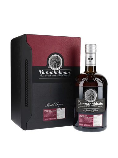 Slika Bunnahabhain 30 Years Old Islay Single Malt Scotch Whisky Marsala Cask Finish 1988 47,4% Vol. 0,7l in Wooden case