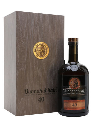 Slika Bunnahabhain 40 Years Old Islay Single Malt Scotch Whisky Limithed Edition 41,9% Vol. 0,7l in Wooden case