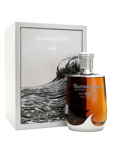 Slika Bunnahabhain 46 Years Old EICH BHANA LÌR Islay Single Malt Scotch Whisky 41,8% Vol. 0,7l in Wooden case