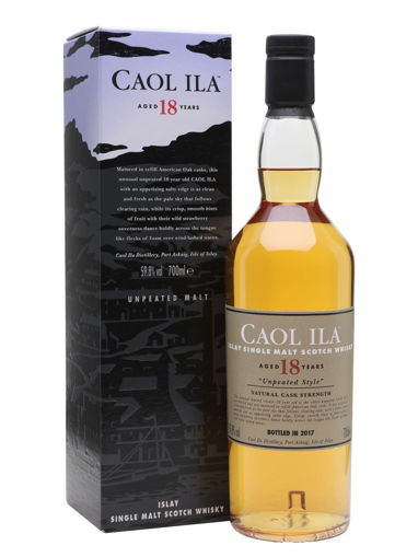 Slika Caol Ila 18 Years Old UNPEATED STYLE Natural Cask Strength 2017 59,8% Vol. 0,7l in Giftbox