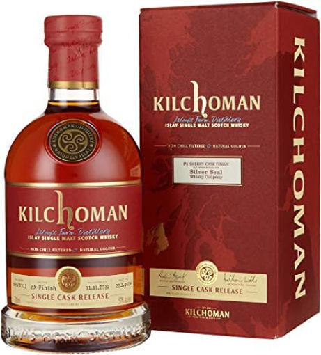 Slika Kilchoman SILVER SEAL SINGLE CASK RELEASE PX Sherry Cask Finish 2011 57% Vol. 0,7l in Giftbox
