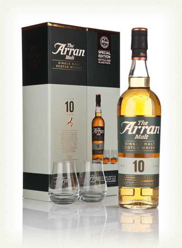 Slika The Arran Malt 10 Years Old Single Malt Scotch Whisky 46% Vol. 0,7l in Giftbox with 2 glasses