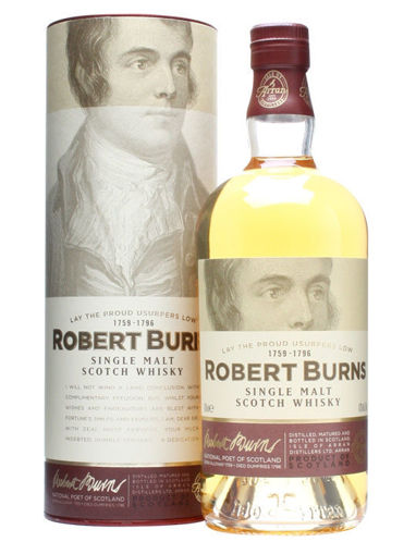 Slika The Arran Malt ROBERT BURNS Single Malt Scotch Whisky 43% Vol. 0,7l in Giftbox