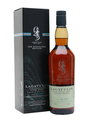 Slika Lagavulin The Distillers Edition 2018 Double Matured 2002 43% 0,7 + GB