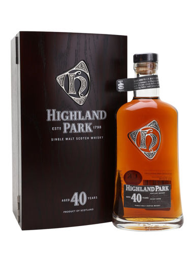 Slika Highland Park 40 Years Old Single Malt Scotch Whisky 47,5% Vol. 0,7l in Wooden case