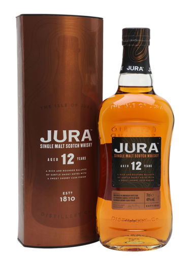Slika Jura 12 Years Old Single Malt Scotch Whisky 40% Vol. 0,7l in Giftbox