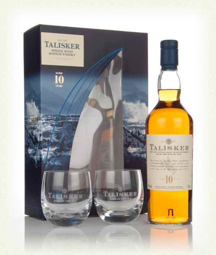 Slika Talisker 10 Years Old Single Malt Whisky 45,8% Vol. 0,7l in Giftbox with 2 glasses