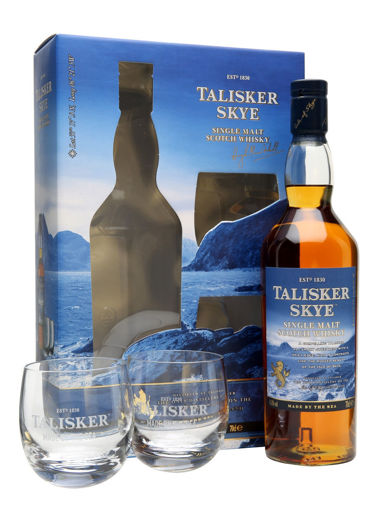 Slika Talisker Skye 45,8% Vol. 0,7l in Giftbox with 2 glasses