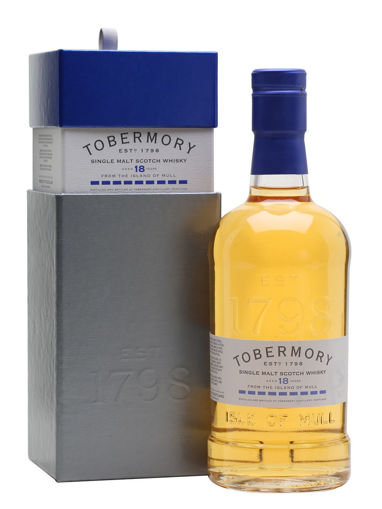 Slika Tobermory 18 Years Old Single Malt Scotch Whisky BOURBON FINISH 46,3% Vol. 0,7l in Giftbox
