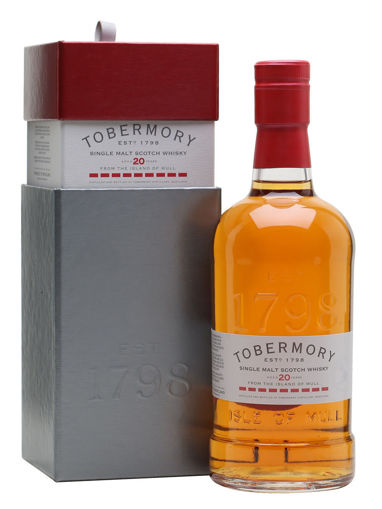 Slika Tobermory 20 Years Old Single Malt Scotch Whsky SHERRY FINISH 46,3% Vol. 0,7l in Giftbox