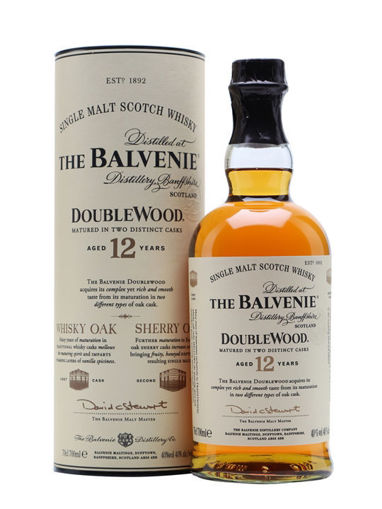 Slika The Balvenie 12 Years Old Double Wood 40% Vol. 0,7l in Giftbox