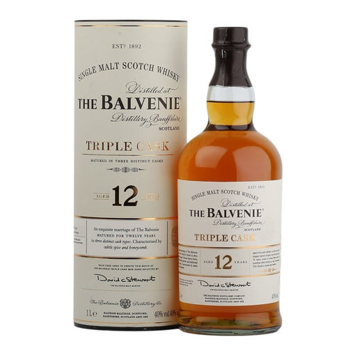Slika The Balvenie 12 Years Old Triple Cask 40% Vol. 1l in Giftbox