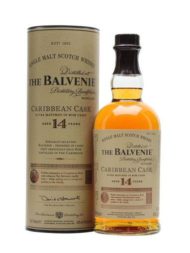 Slika The Balvenie 14 Years Old Caribbean Cask 43% Vol. 0,7l in Giftbox