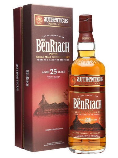 Slika The BenRiach 25 Years Old AUTHENTICUS Peated Malt Limithed Edition 46% Vol. 0,7l in Giftbox