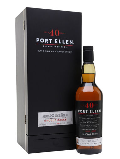 Slika Port Ellen 40 Years Old 1979/2020 9 Rogue Casks 50,9% Vol. 0,7l in Giftbox