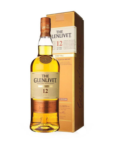 Slika The Glenlivet 12 Years Old FIRST FILL Single Malt Scotch Whisky 40% Vol. 0,7l in Giftbox