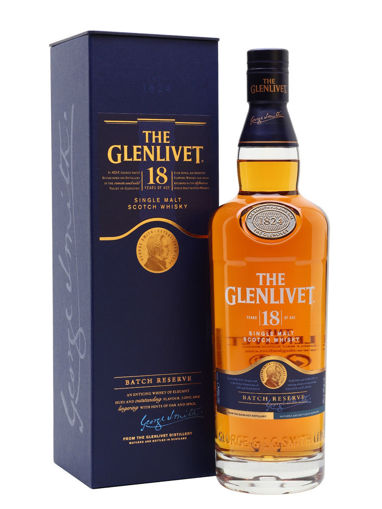 Slika The Glenlivet 18 Years Old Single Malt Scotch Whisky BATCH RESERVE 40% Vol. 0,7l in Giftbox