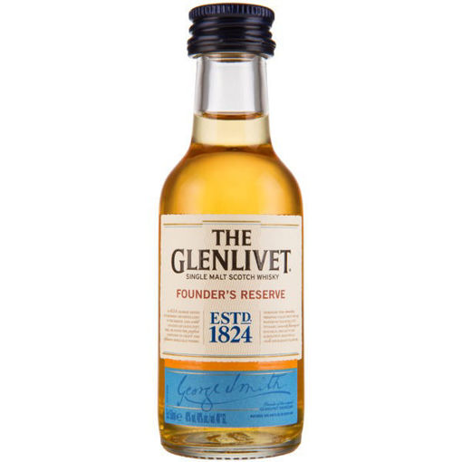 Slika The Glenlivet FOUNDER'S RESERVE Single Malt Scotch Whisky 40% Vol. 0,05l in Giftbox