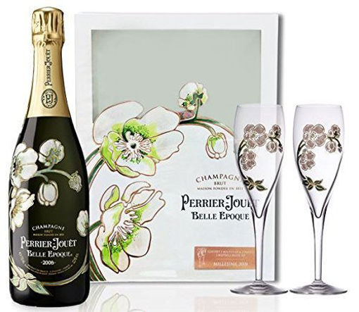 Slika Perrier-Jouët Champagne Grand Brut 12% Vol. 0,75l in Giftbox with 2 glasses