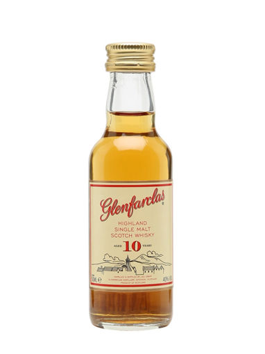 Slika Glenfarclas 10 Years Old Highland Single Malt Scotch Whisky 40% Vol. 0,05l