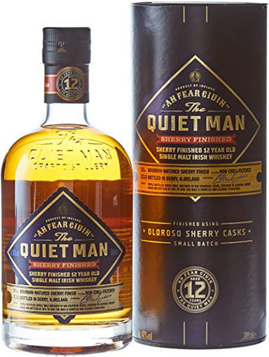 Slika The Quiet Man AN FEAR CIUIN 12 Year Old SHERRY FINISHED 46% Vol. 0,7l in Giftbox
