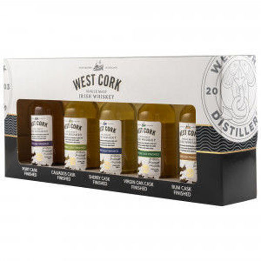 Slika West Cork CASK COLLECTION Miniset 43% Vol. 5x0,05l in Giftbox