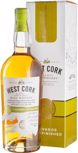 Slika West Cork Single Malt Irish Whiskey CALVADOS CASK FINISHED 43% Vol. 0,7l in Giftbox