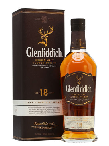 Slika Glenfiddich 18 Years Old SMALL BATCH RESERVE Single Malt Scotch Whisky 40% Vol. 0,7l in Giftbox
