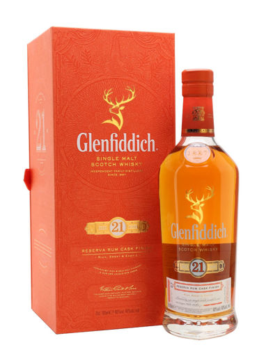 Slika Glenfiddich 21 Years Old RESERVA RUM CASK FINISH Single Malt Scotch Whisky 40% Vol. 0,7l in Giftbox