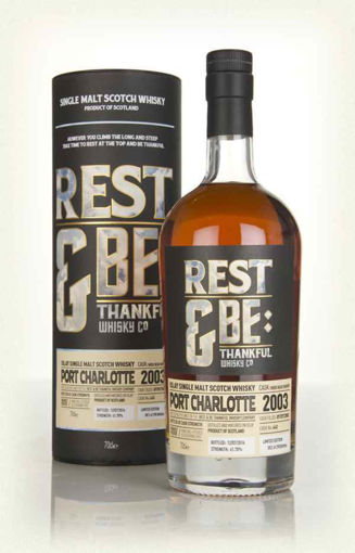 Slika Rest & Be Thankful Port Charlotte 13 Years Old Bourbon Cask Limithed Edition 62,2% Vol. 0,7l in Giftbox