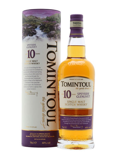 Slika Tomintoul 10 Years Old Single Malt Scotch Whisky 40% Vol. 0,7l in Giftbox