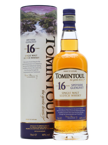 Slika Tomintoul 16 Years Old Single Malt Scotch Whisky 40% Vol. 0,7l in Giftbox