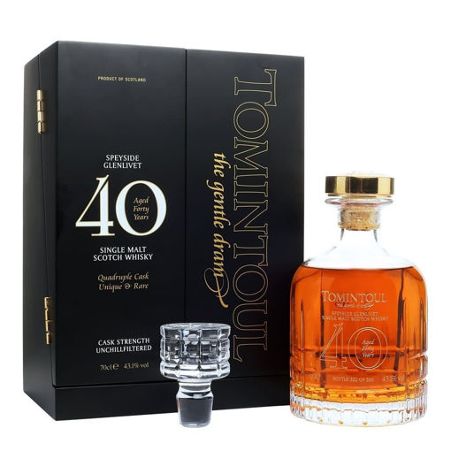Slika Tomintoul 40 Years Old Single Malt Scotch Whisky 43,1% Vol. 0,7l in Giftbox