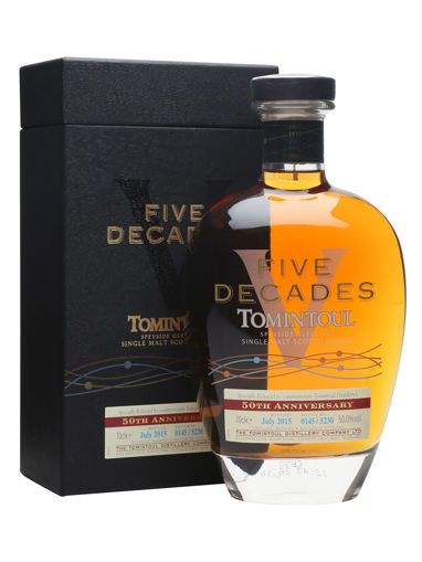 Slika Tomintoul Five Decades 50 Anniversary Special Release 50% Vol. 0,7l in Giftbox