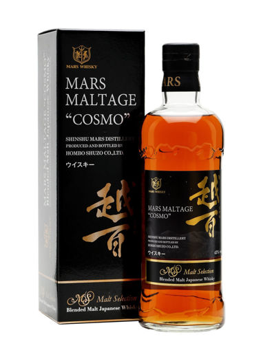 Slika Mars Maltage COSMO Malt Selection Blended Malt Japanese Whisky 43% Vol. 0,7l in Giftbox