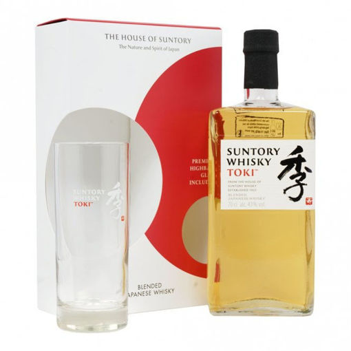 Slika Suntory TOKI Blended Japanese Whisky 43% Vol. 0,7l in Giftbox with Highball glass